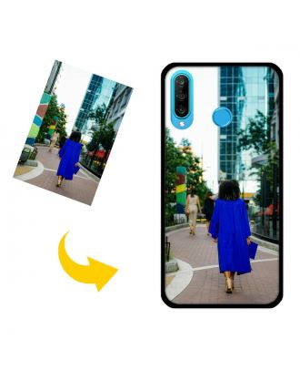 Tilpasset HUAWEI Nova 4E / P30 Lite telefonveske med dine bilder, tekster, design osv.