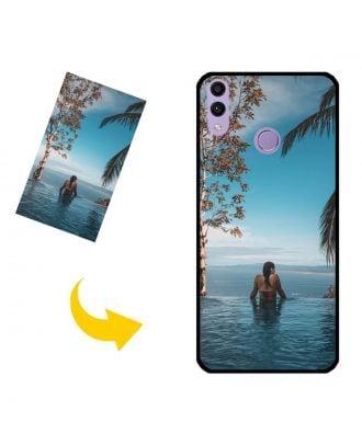 Gepersonaliseerd HUAWEI Honor Play 8C-telefoonhoesje met uw eigen foto's, teksten, ontwerp, enz.