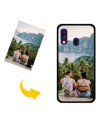 Capa de telefone personalizada da galáxia A40 de Samsung com suas fotos, textos, projeto, etc.