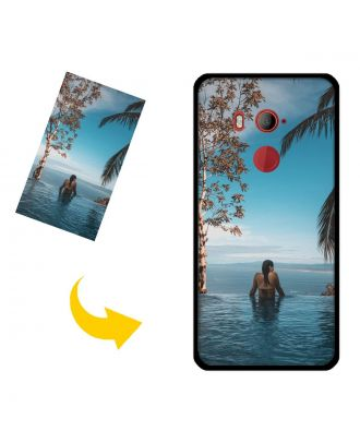 Capa de telefone personalizada para HTC U11 EYEs com seu próprio design, fotos, textos, etc.