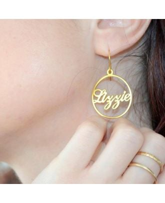 Personalized Gold / Rose Gold / White Gold Plated Name Earrings