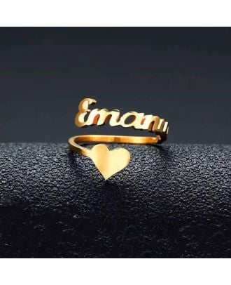 Customized Gold / White Gold / Rose Gold Plated Ring With Name