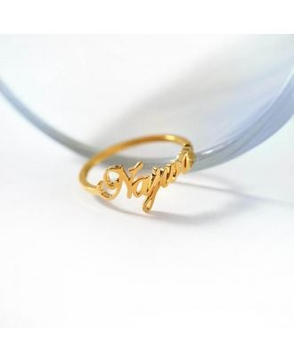 Customized Gold / Rose Gold / White Gold Plated Name Ring
