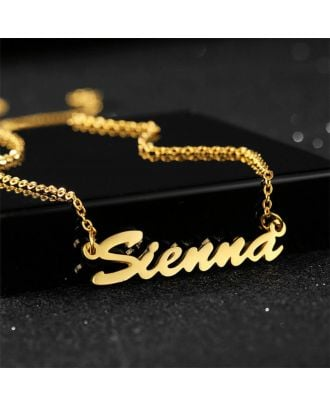 Custom Gold / Silver / Rose Gold Plated Name Necklace Pendant