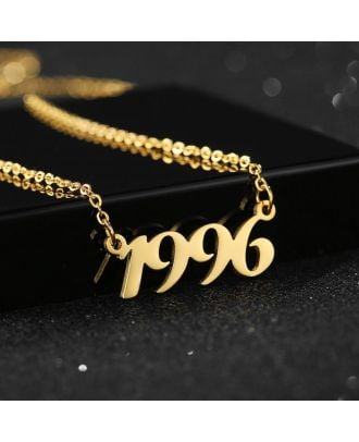 Tilpasset guld / sølv / rose forgyldt nummer halskæde som fødselsdagsgave