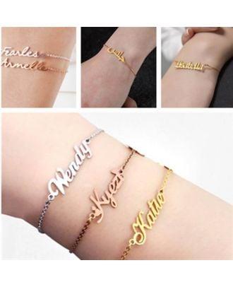 Prispôsobené meno náramok so zlatom / bielym zlatom / ružovým zlatom