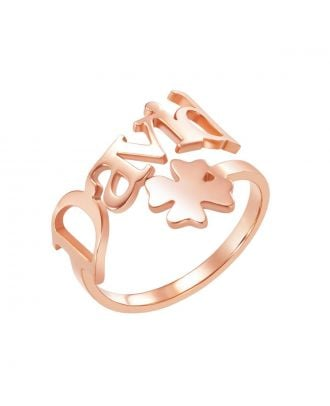 Custom Made Silver / Rose Gold / Gold Plated Name Ring