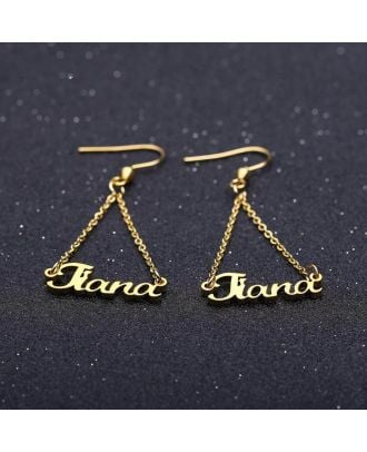 Custom Sterling Silver 925 Name Earrings