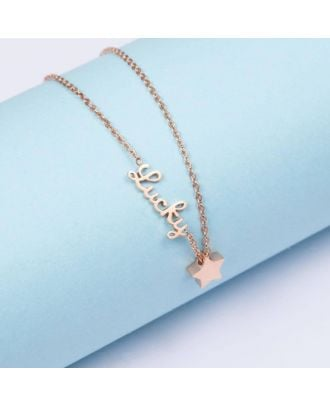 Customized Sterling Silver 925 Name Anklet