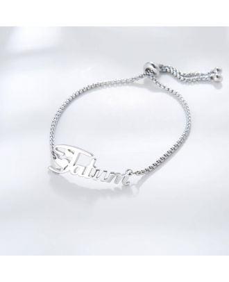 Bracelete personalizado banhado a ouro / ouro / prata com nome