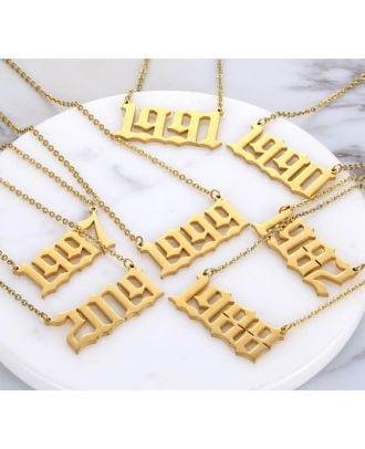 Specialfremstillet guld / roseguld / sølvbelagt nummer halskæde