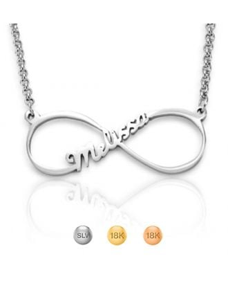 Custom Made Sterling Silver 925 Infinity Necklace