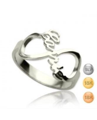 Personalised Sterling Silver 925 Infinity Name Necklaces Ring