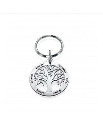 Corrente chave personalizada da prata esterlina 925
