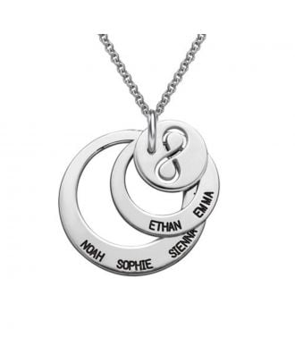 Personalized Sterling Silver 925 Engraved Infinity Necklace