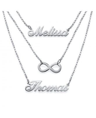 Personalized Sterling Silver 925 / Copper Infinity Necklace With Name