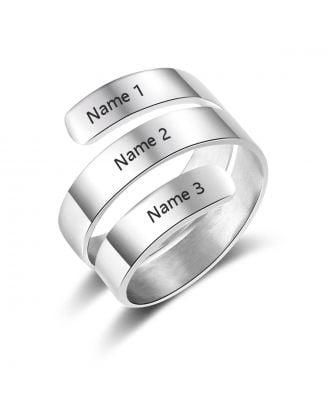Vlastné ružové zlato / zlato / striebro rytý prsteň