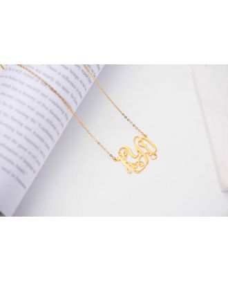 Customized Sterling Silver 925 Monogram 3 Initial Necklace