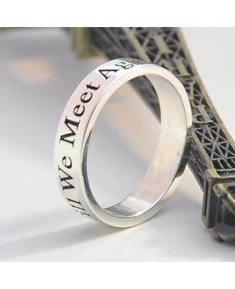 Anel de promessa em prata esterlina 925 gravado personalizado