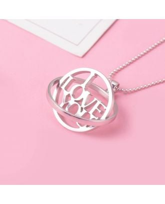 Custom Made Sterling Silver 925 Circle Necklace With Name