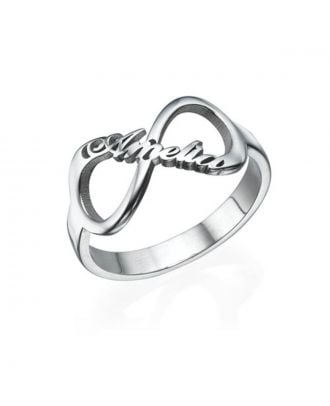 Custom Made Sterling Silver 925 Infinity Name Bracelets Ring