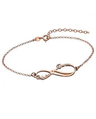 Custom Copper / Sterling Silver 925 Infinity Name Bracelet
