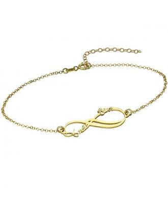 Personalised Sterling Silver 925 Infinity Name Bracelet