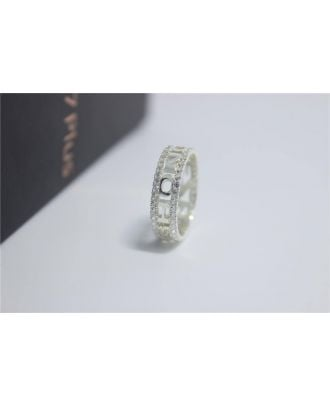 Custom Sterling Silver 925 Diamond Engagement Name Ring