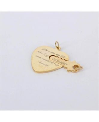 Custom Sterling Silver 925 Engraved Heart Necklace