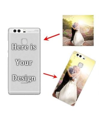 Personalized phone case with own photo and texts for HUAWEI P9