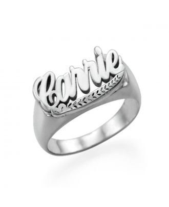 Personalised Copper / Sterling Silver 925 Mens Wedding Name Ring