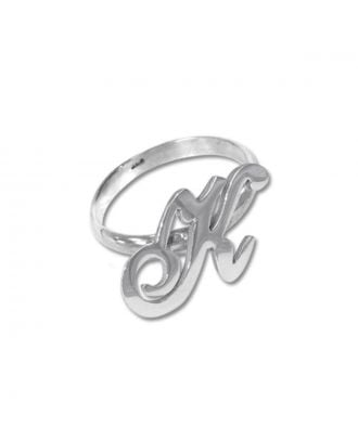 Tilpasset kobber / sterling sølv 925 monogram initial ring