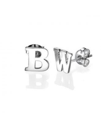 Personalised Sterling Silver 925 / Copper Monogram Initial Earrings
