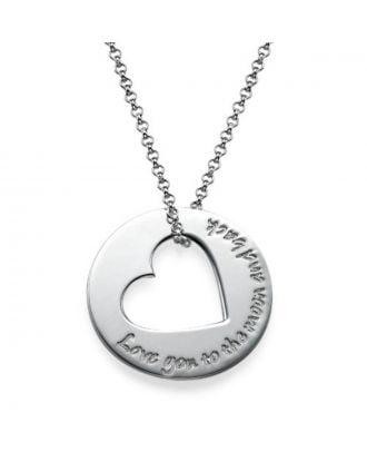 Personalizovaný náhrdelník zo striebra 925 / medené gravírovanie