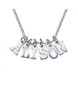 Personalised Copper / Sterling Silver 925 Initial Name Necklace