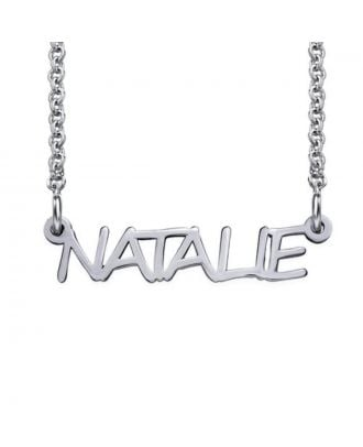 Customized Copper / Sterling Silver 925 Name Necklace  for Women and Men