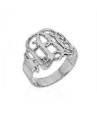 Personaliseret kobber / sterling sølv 925 monogram initial ring