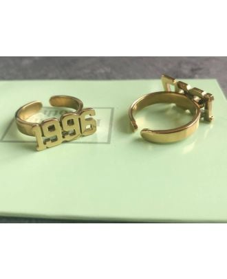 Custom Made Gold / Rose Gold / Silver Plated Number Ring