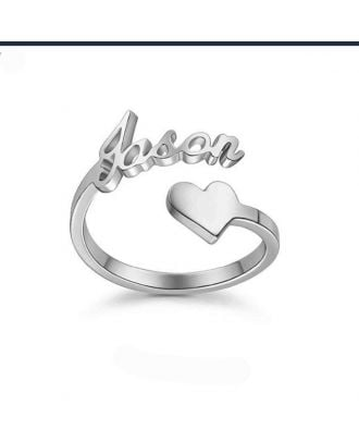 Customized Rose Gold / Gold / Silver Plated Heart Name Ring