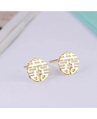 Custom Sterling Silver 925 Earrings With Chinese Name