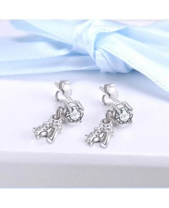 Personalized Sterling Silver 925 Earrings With Chinese Name