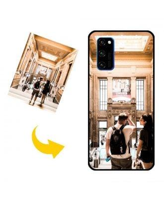 yksilöllinen HUAWEI V30 Pro Puhelinlaukku omilla valokuvillasi, teksteillä, suunnittelulla jne.