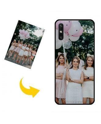 Mittatilaustyönä HUAWEI Enjoy 10e Puhelinlaukku, jossa oma mallisi, valokuvat, tekstit jne.