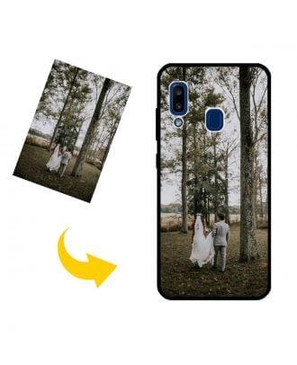 Op maat Samsung Galaxy A20E Telefoonhoesje met uw foto's, teksten, ontwerp, etc.