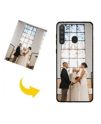 Speciaal gemaakt Samsung Galaxy A21 Telefoonhoesje met uw eigen ontwerp, foto's, teksten, etc.