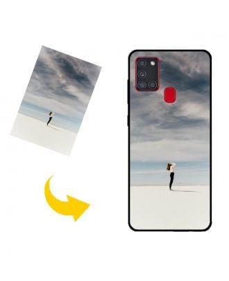 Personalizado Samsung Galaxy A21s Caja del teléfono con sus propias fotos, textos, diseño, etc.