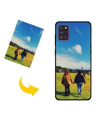 Brugerdefinerede Samsung Galaxy A31 Telefonkasse med dine egne fotos, tekster, design osv.