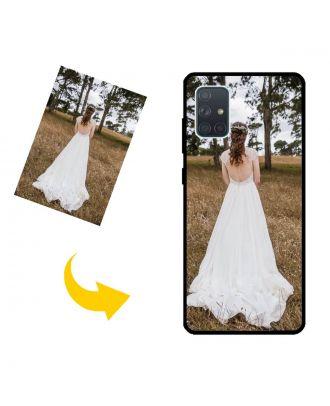 yksilöllinen Samsung Galaxy A71 4G Puhelinlaukku valokuviesi, tekstien, suunnittelun jne. Kanssa