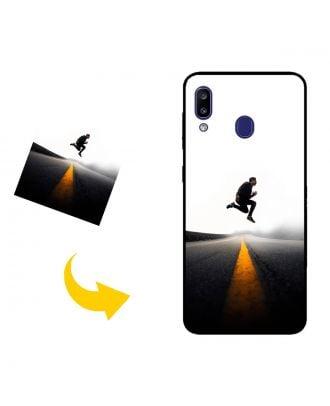 Räätälöidyt Samsung Galaxy M10s Puhelinlaukku valokuviesi, tekstien, suunnittelun jne. Kanssa