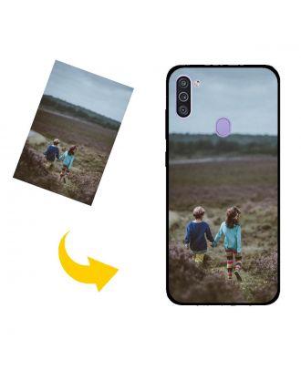 Mukautettu Samsung Galaxy M11 Puhelinlaukku omilla valokuvillasi, teksteillä, suunnittelulla jne.